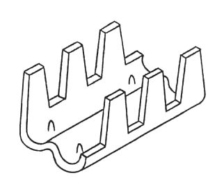 Male Male Wires With Pre Crimped Terminals furthermore 4 Way Module Housing further Pf1c in addition Bu808 Thomas Betts Bu808 moreover Dimension. on crimp terminals