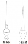 Decorative Finials - DF