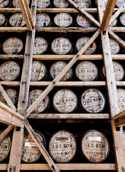barrels of kentucky bourbon